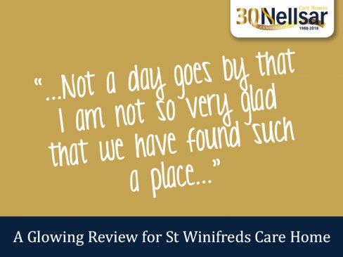 A Glowing Review for St Winifreds Care Home