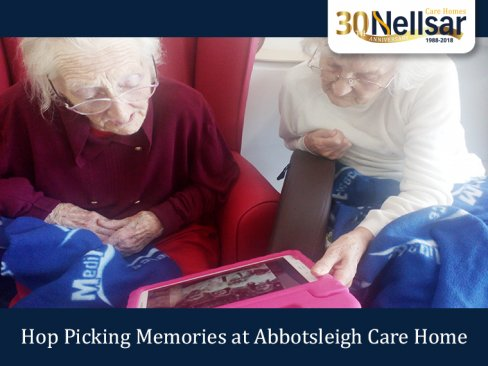 Hop Picking Memories at Abbotsleigh Care Home