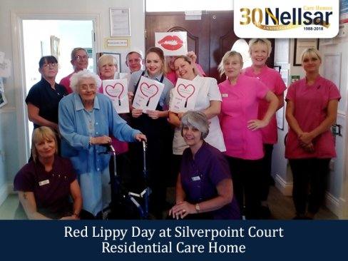 Red Lippy Day at Silverpoint Court Residential Care Home