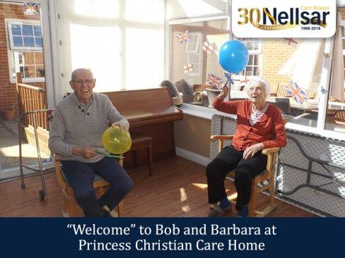 Welcome to Bob and Barbara at Princess Christian Care Home