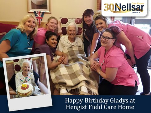 Happy Birthday Gladys at Hengist Field Care Home