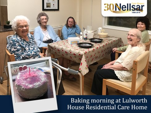 Baking morning at Lulworth House Residential Care Home