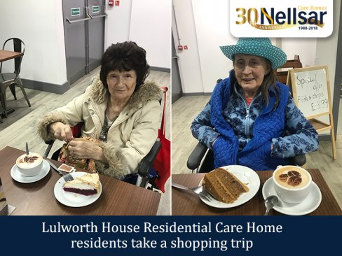 Lulworth House Residential Care Home residents take a shopping trip