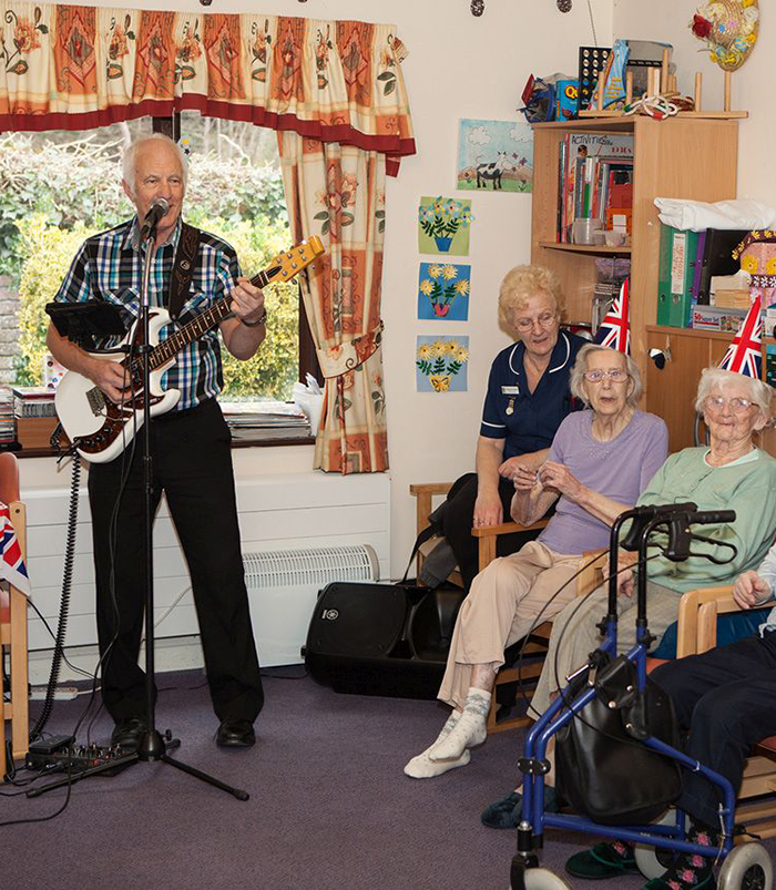 Live Music at St Winifreds Care Home in Deal, Kent