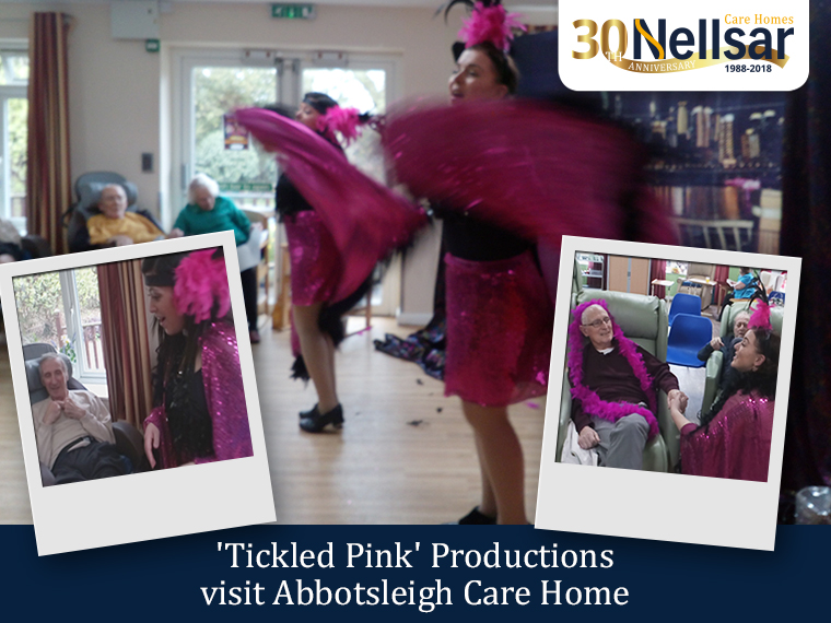 'Tickled Pink' Productions visit Abbotsleigh Care Home