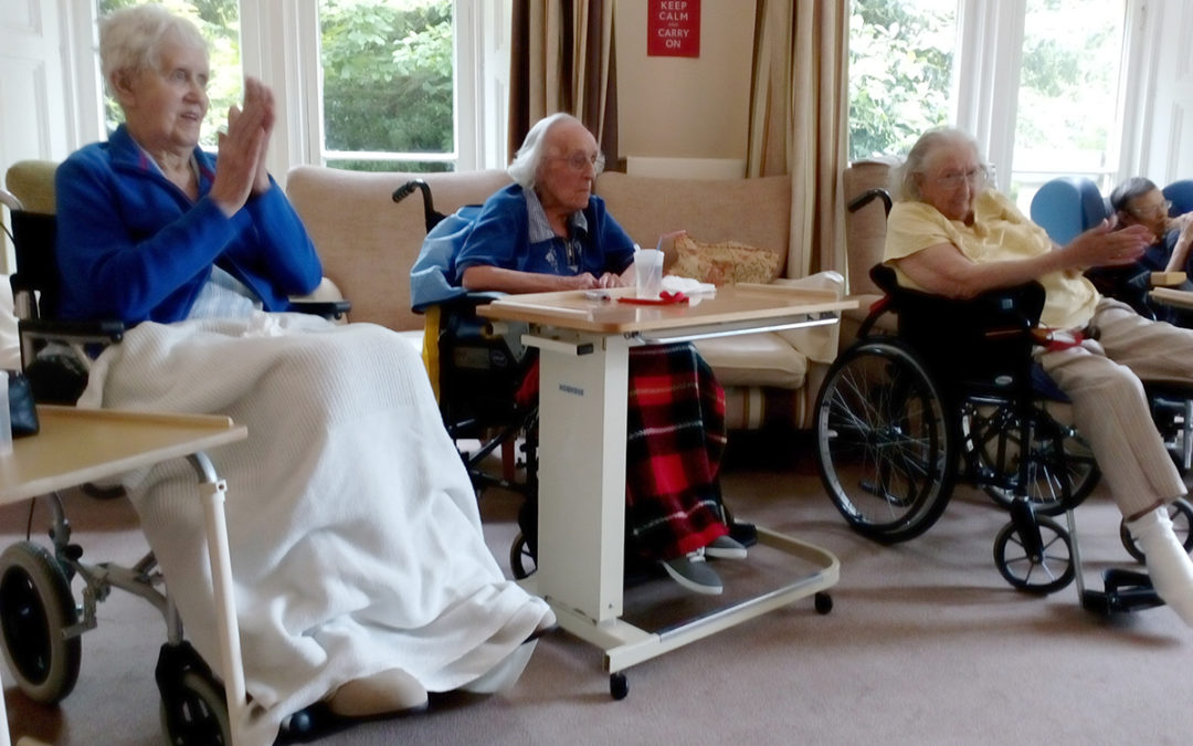Rob T entertains Loose Valley Care Home residents