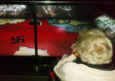 A resident viewing a World War 2 exhibition