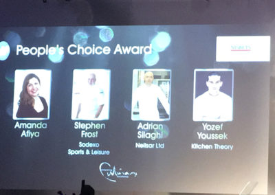 Presentation screen at The Craft Guild of Chefs Awards