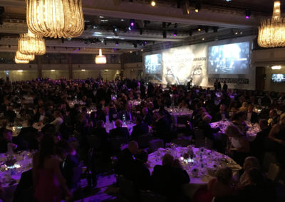 Tables of attendees at The Craft Guild of Chefs Awards