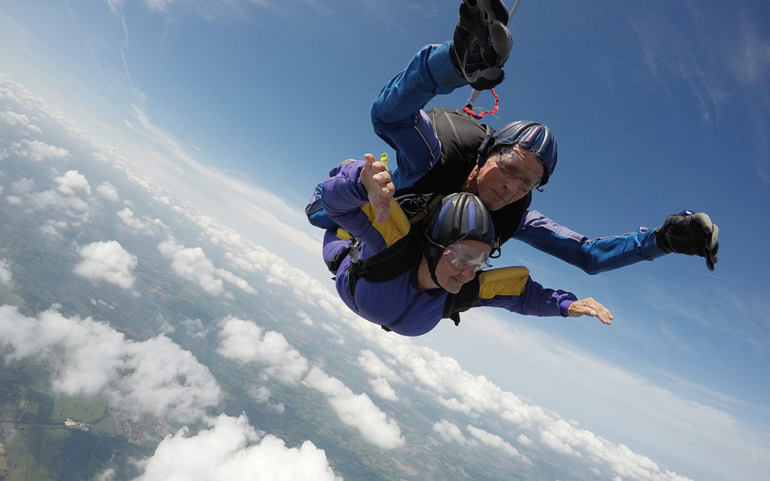 Woodstock Care Home Care Assistant Annette skydives for charity