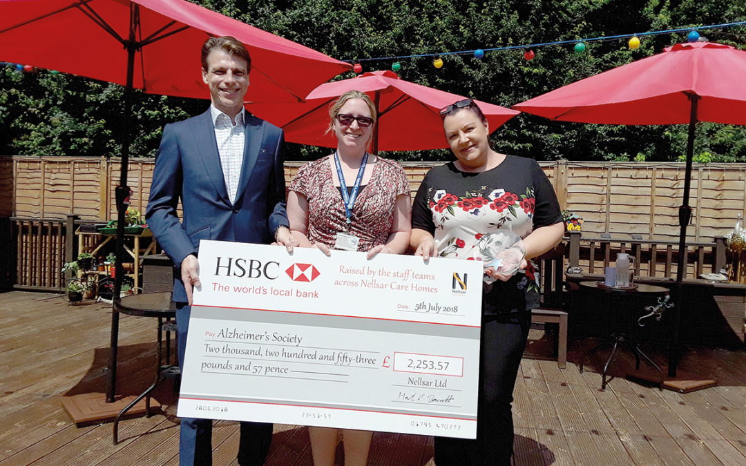 Nellsar Care Homes raise £2,253.57 for the Alzheimer's Society