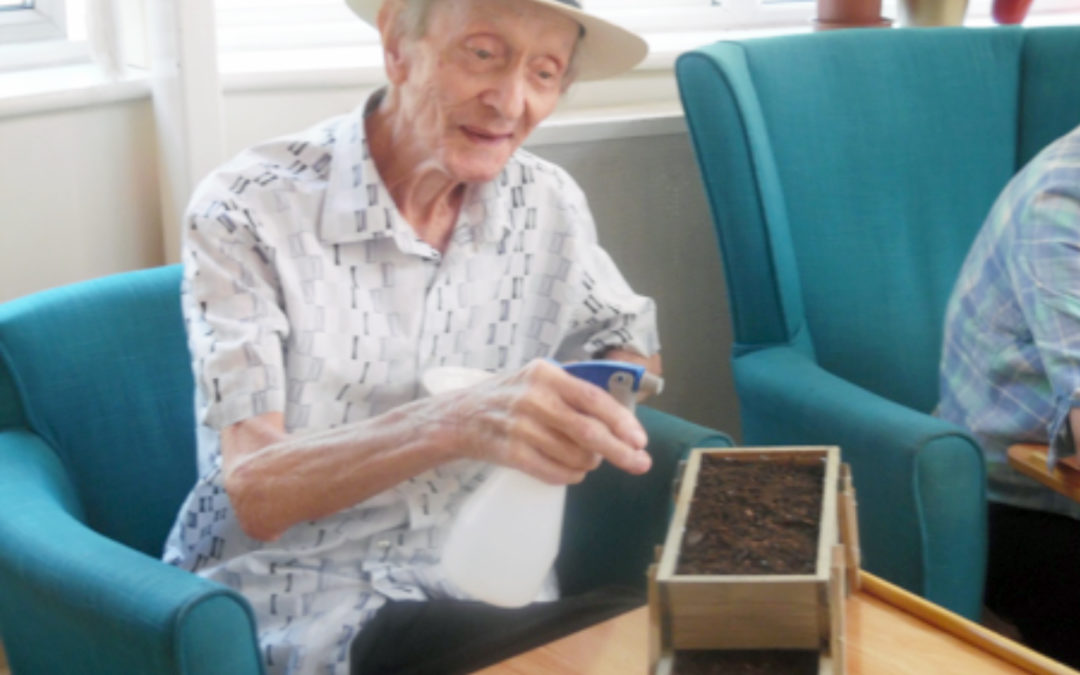 Gardening and art at Bromley Park Care Home