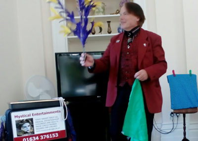 Terry Knight Magician wows residents with a magic trick