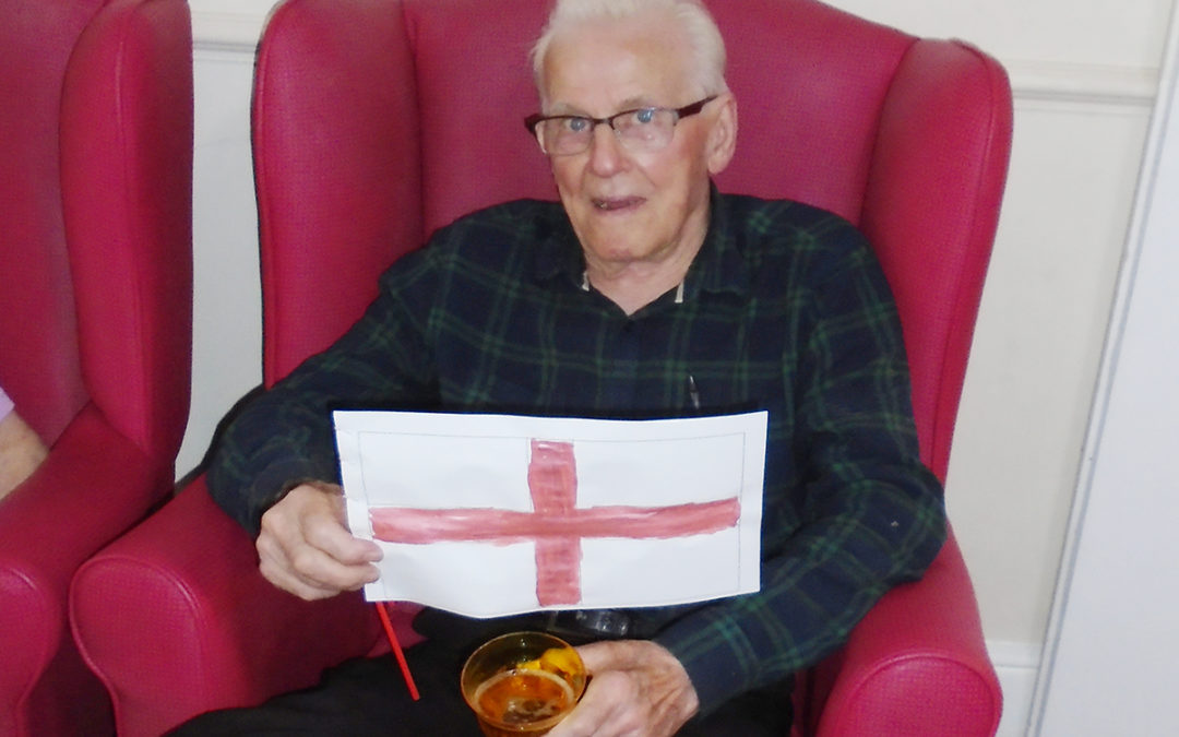 Lulworth House residents enjoy the football and a trip out to town