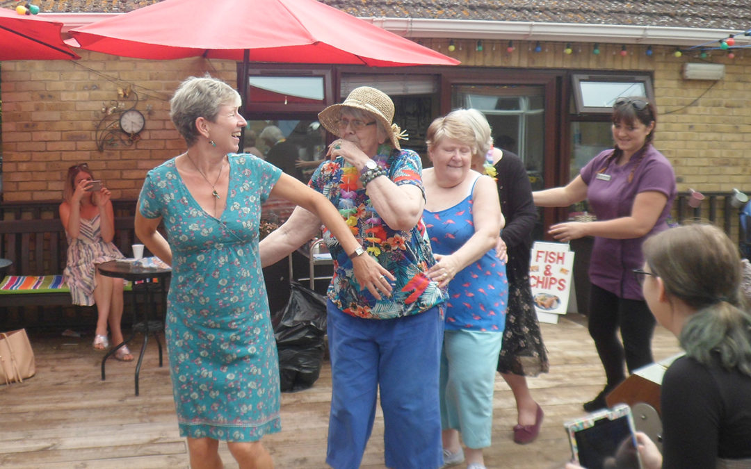 Seaside themed event at St Winifreds Care Home