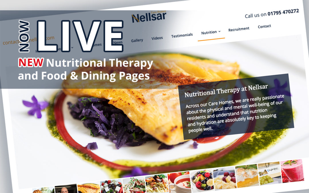 Nellsar Care Homes Launch Nutritional Therapy Page