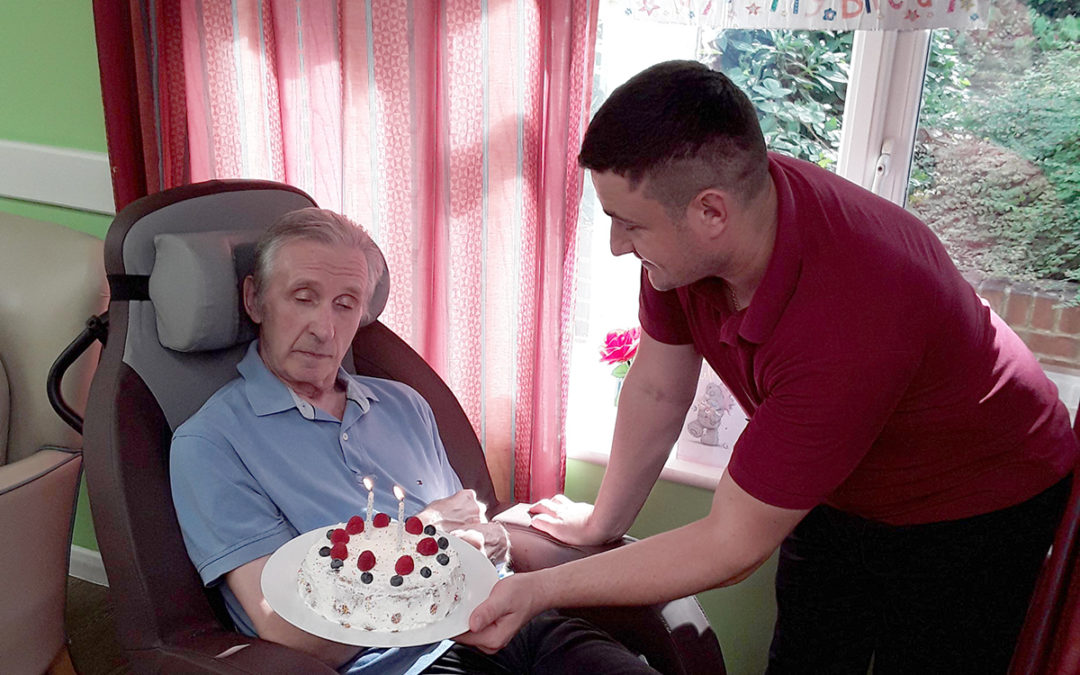 Happy birthday Brian at Abbotsleigh Care Home