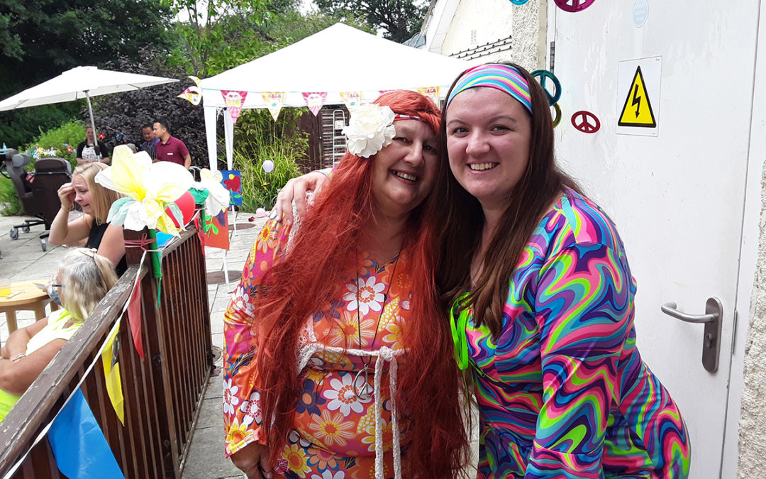 Abbotsleigh Care Home host hippy summer fete