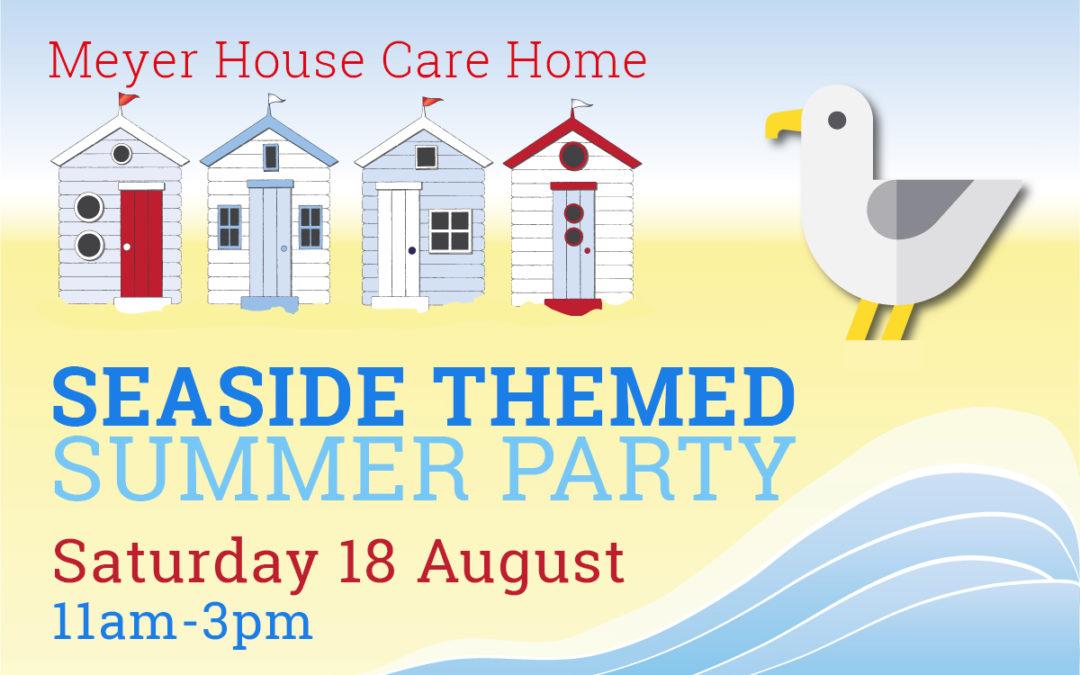 Summer seaside celebrations at Meyer House Care Home