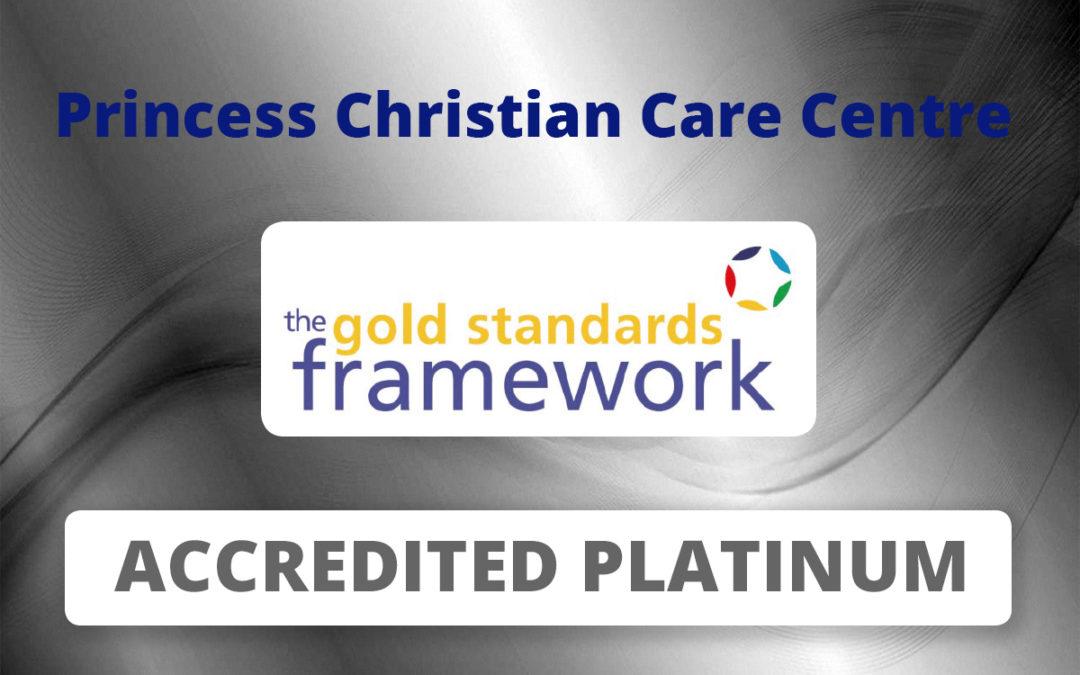 Princess Christian Care Home awarded Gold Standards Framework Platinum