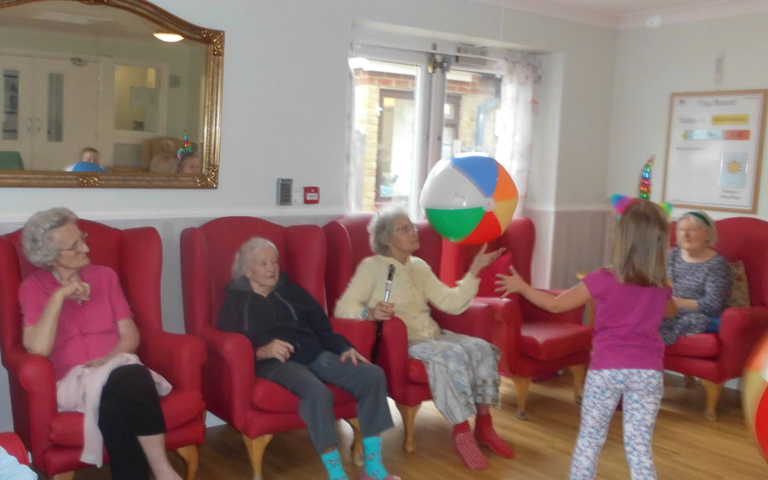 Beach ball games at Woodstock Residential Care Home
