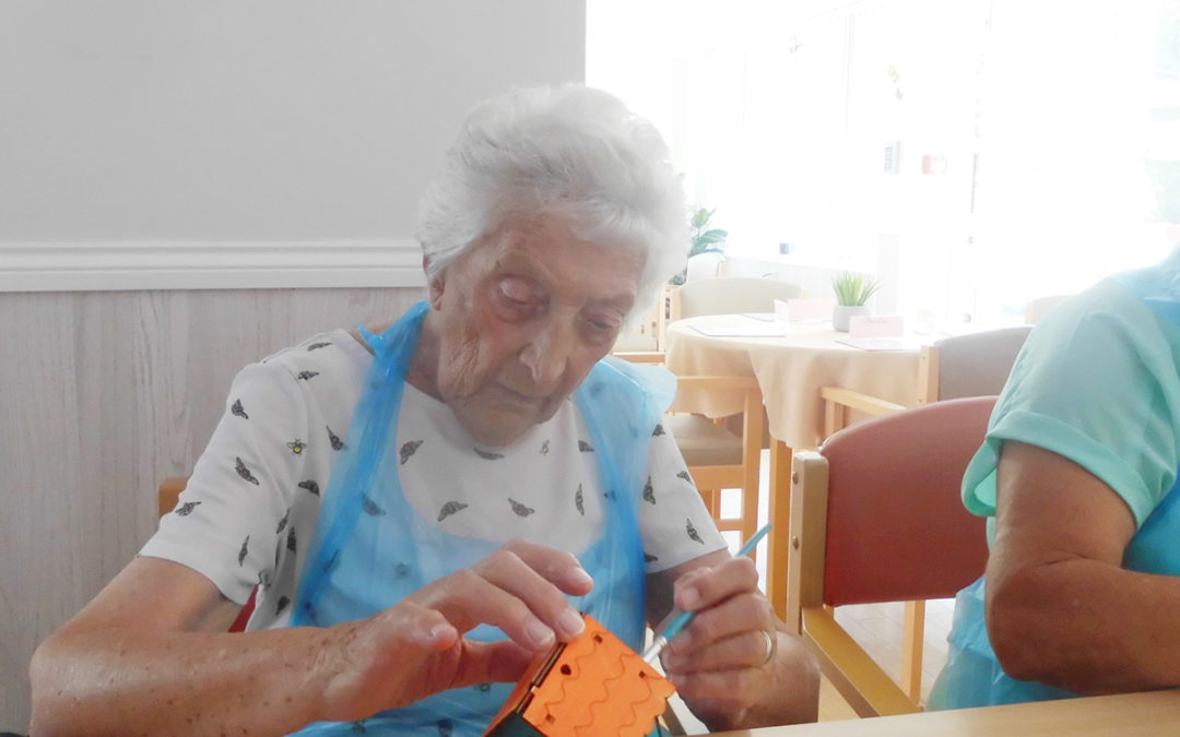 Making bird boxes at Woodstock Residential Care Home