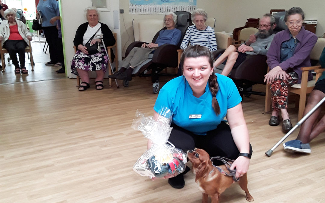 Furry friends at Abbotsleigh Care Home