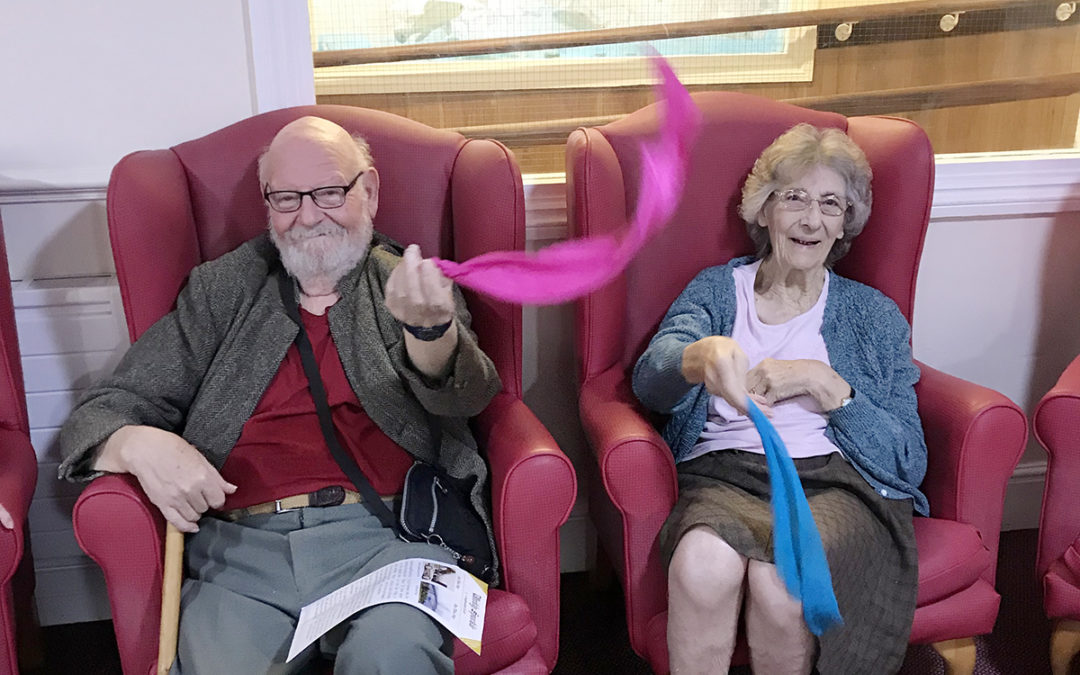 Active Armchairs and Sensory session at Lulworth House Residential Care Home