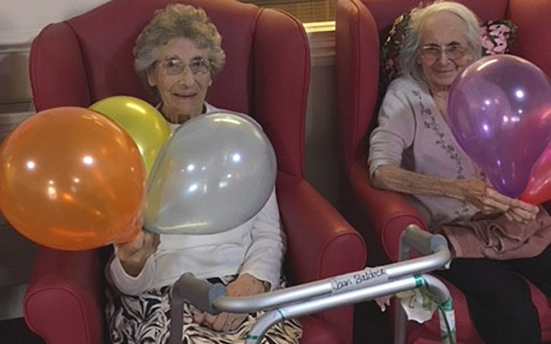 Lulworth House Residential Care Home volley balloon Olympics