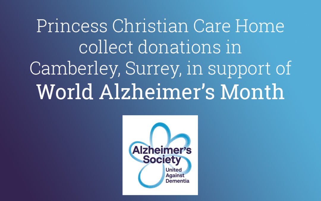 Princess Christian Care Home make local collections for the Alzheimer's Society