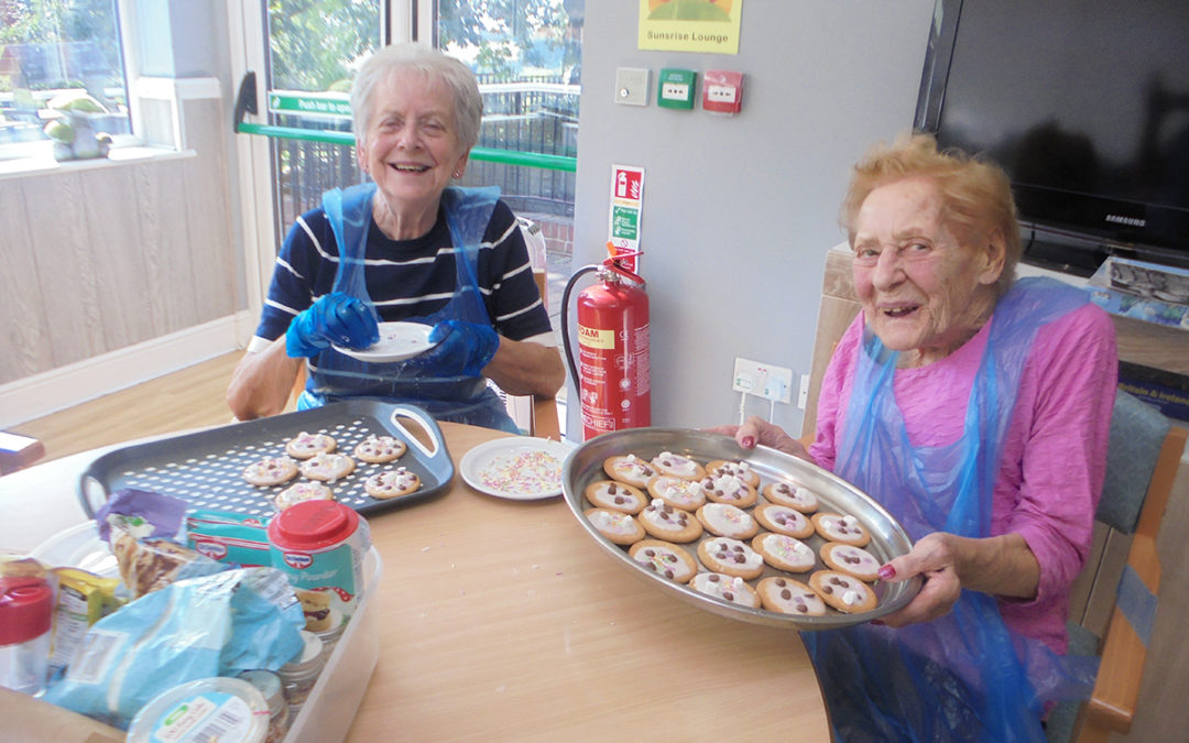 Cookie decorating at The Old Downs Residential Care Home