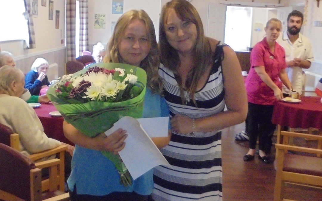 Vira at The Old Downs Residential Care Home wins Employee of the Month