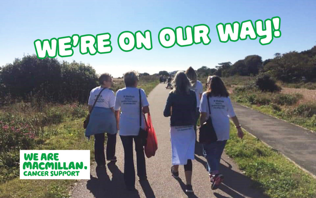 The ladies at St Winifreds Care Home beginning their Macmillan charity walk on 27 September
