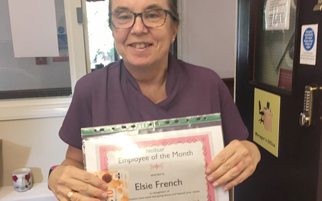 Employee of the month awards at St Winifreds Care Home