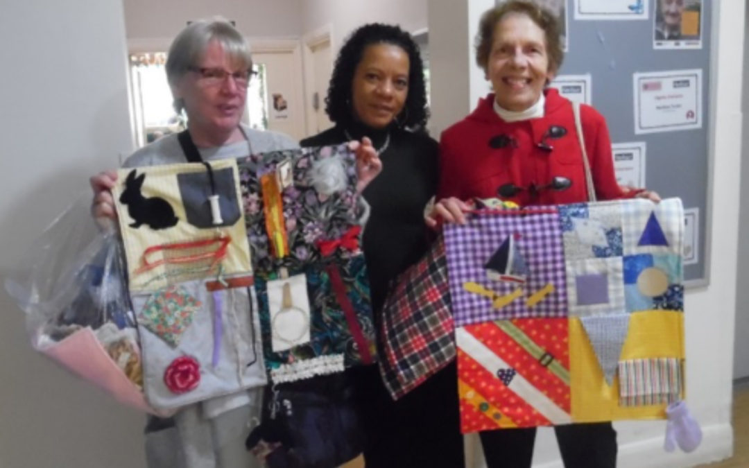 Beckenham Quilters donate fidget blankets to Bromley Park Care Home