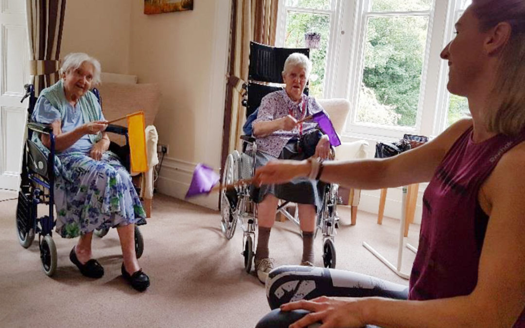 Music and exercise at Loose Valley Care Home
