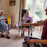 The ladies at Loose Valley taking part in a seated exercise class