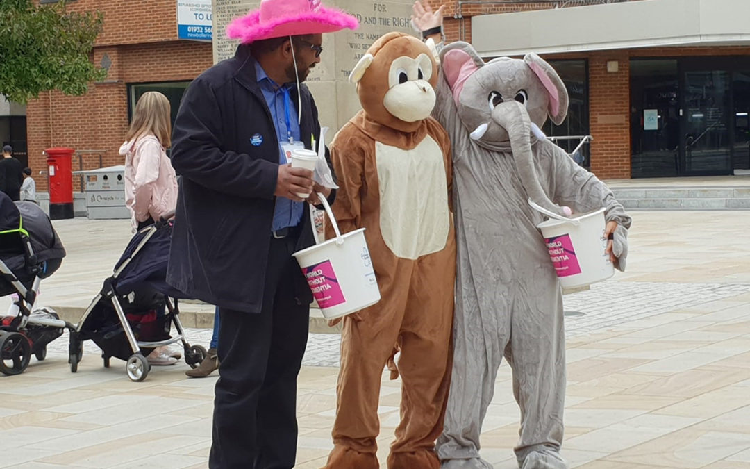 The Princess Christian Care Home team raising awareness for Dementia in Woking town centre