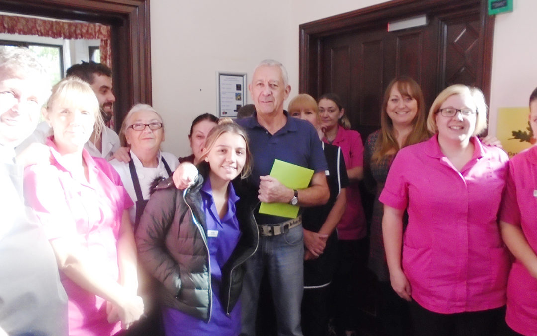 A fond farewell to Paul at The Old Downs Residential Care Home