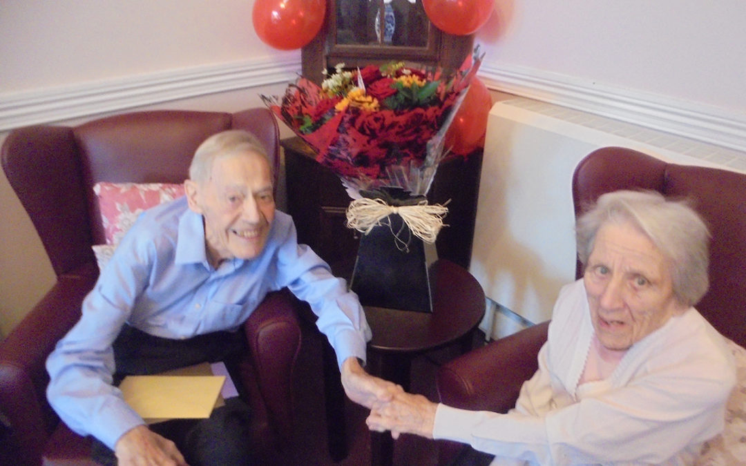 Special wedding anniversary celebrations at The Old Downs Residential Care Home