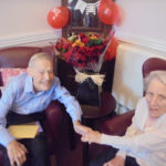 Resident Norah celebrating her 66th wedding anniversary with her husband Ken at the Old Downs Residential Care Home
