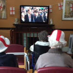 Residents at The Old Downs Residential Care Home enjoying watching the royal wedding of Princess Eugenie and Jack Brooksbank