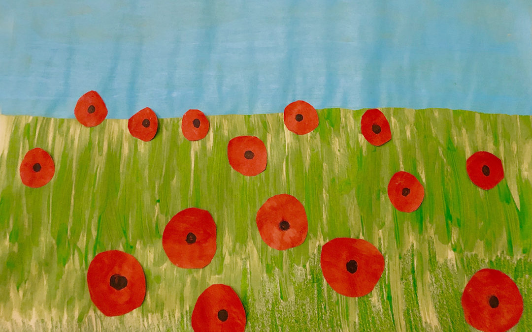 Poppy crafts and remembrance at Bromley Park Care Home