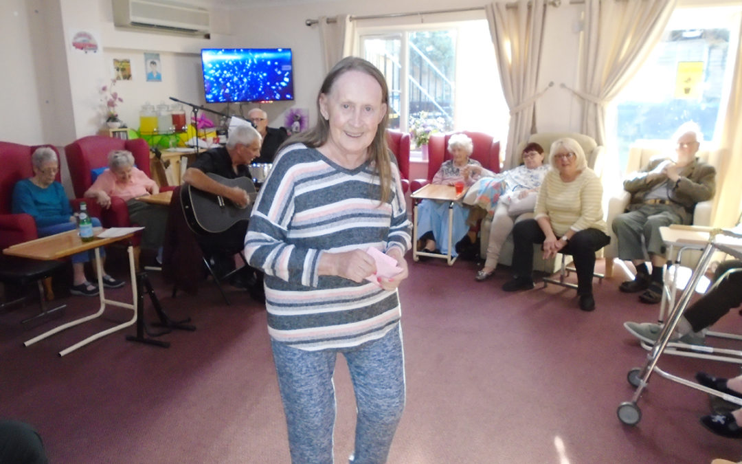 Remembrance Day crafts and music at Lulworth House Residential Care Home
