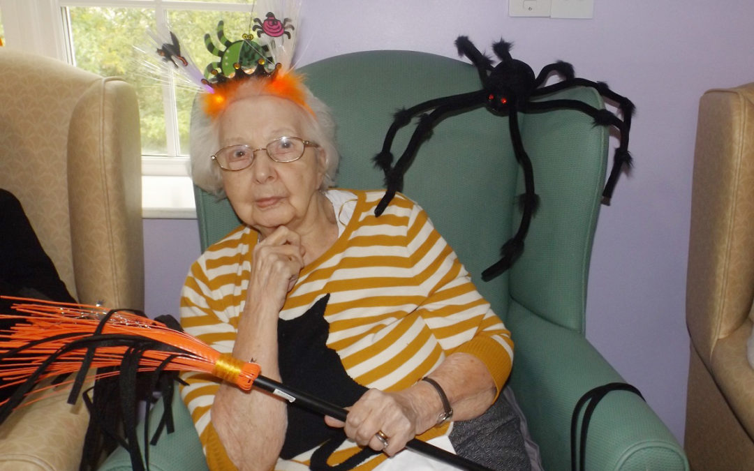 Princess Christian Care Home resident dressed in a Halloween costume