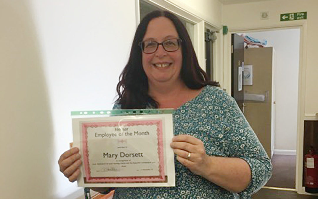 October Employee of the Month Awards at St Winifreds Care Home