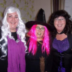 The Activities Team ladies at Loose Valley Care Home in Halloween fancy dress