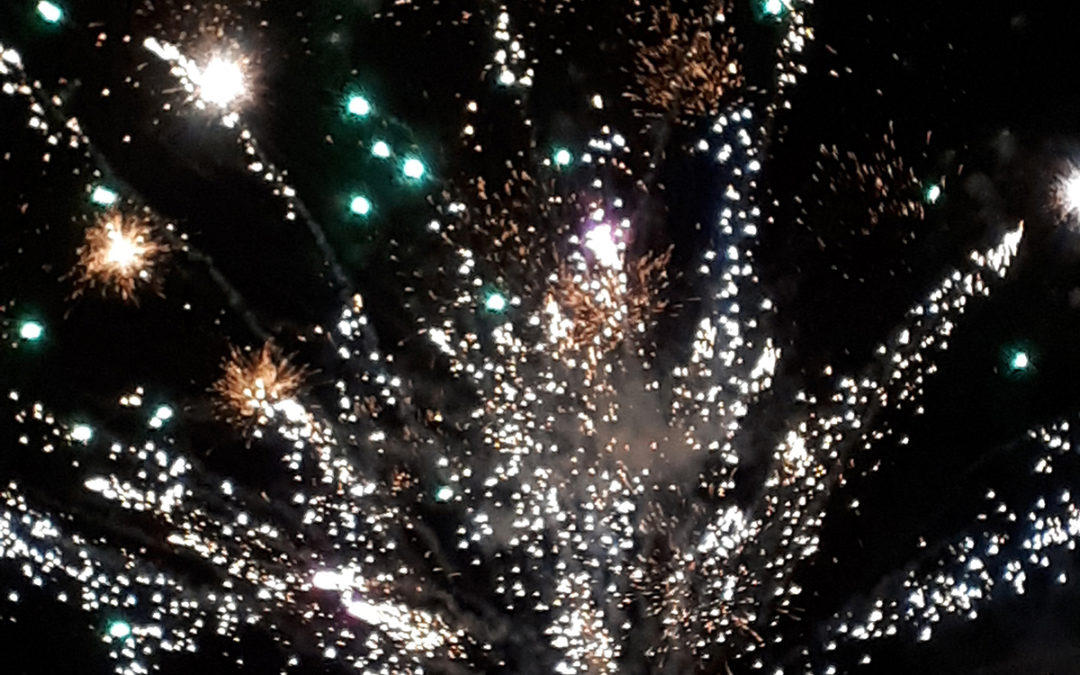 An impressive fireworks display at Meyer House Care Home