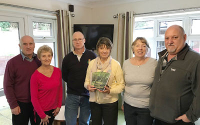 Author Sylvia Bryden-Stock with families on her visit to Lulworth House Residential Care Home