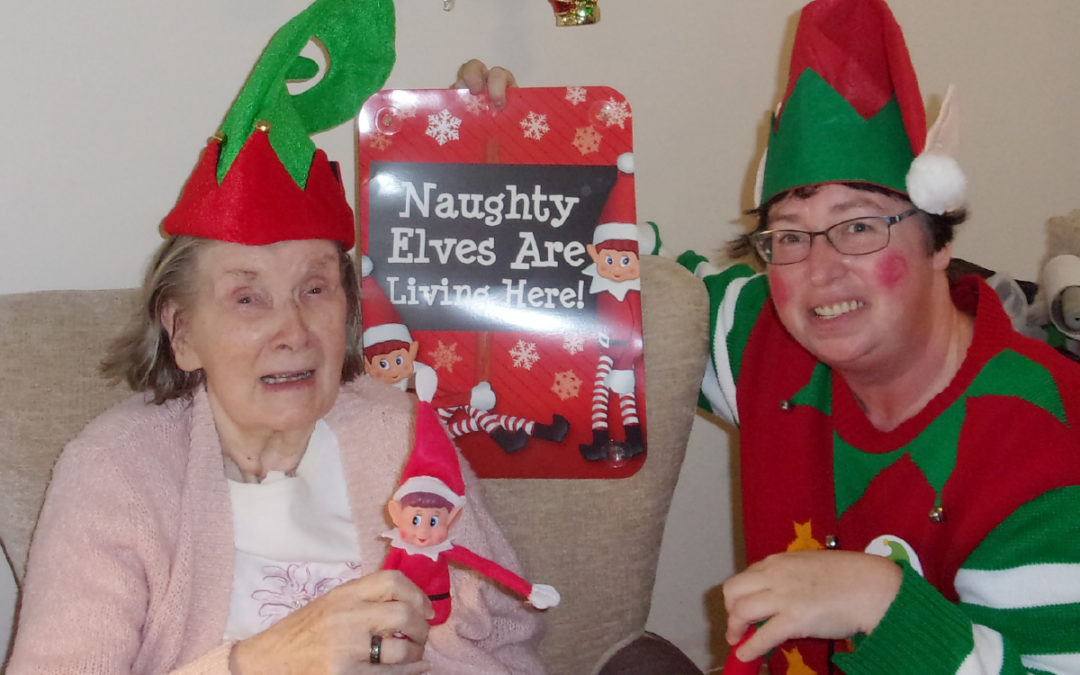 Team Elf Challenge at Loose Valley Care Home